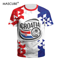 b6de7b373 MASCUBE Summer Tops For Men Women Croatia Team Tshirts O-neck Short Sleeve  Top 2018