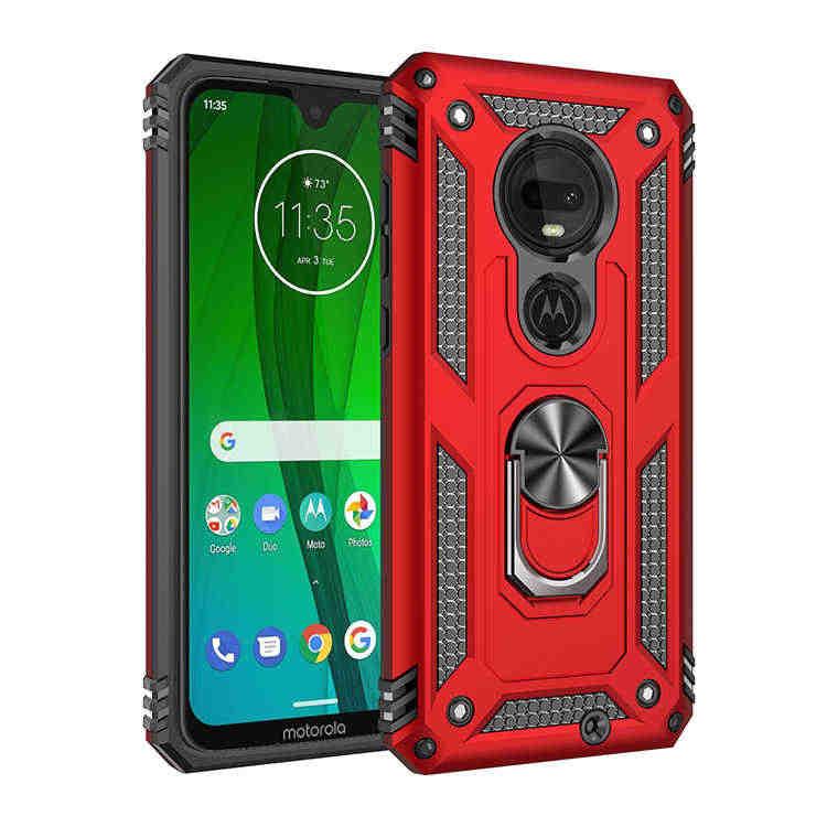 高級耐震電話ケースモトローラモト G7 プラス G7Plus G7 電源鎧ケースハイブリッドバンパーシリコーンカバー