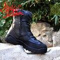 Hombres Negro Botas Tácticas Desierto botas de Combate Militares Zapatos Al Aire Libre Botas Impermeables Usable Transpirable Botas de Montaña Equitación Escalada