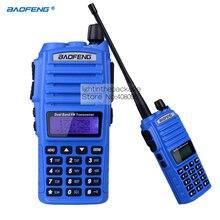 Walkie Talkie Портативный baofeng УФ-82 UV82 8 Вт 10 КМ Любительского Радио Двойной PTT Handie-Talkie Pofung УФ-82 Хэм Радио Baofeng gt-3