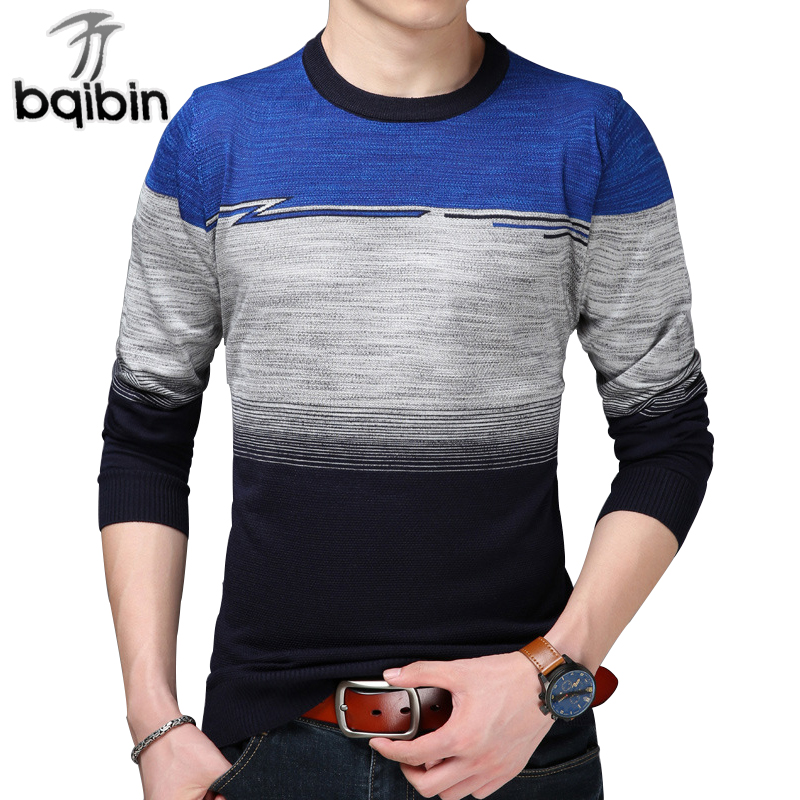 2018 New Spring Sweater Men Brand Cotton Patchwork Knitted Mens Pullover Casual Sweaters Pull Homme M-3XL