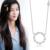 S925 Plata Esterlina de Navidad Círculo Collares Mujer Lockbone Estéril de plata Previene alergia Circón micro-set Collar de Cadena
