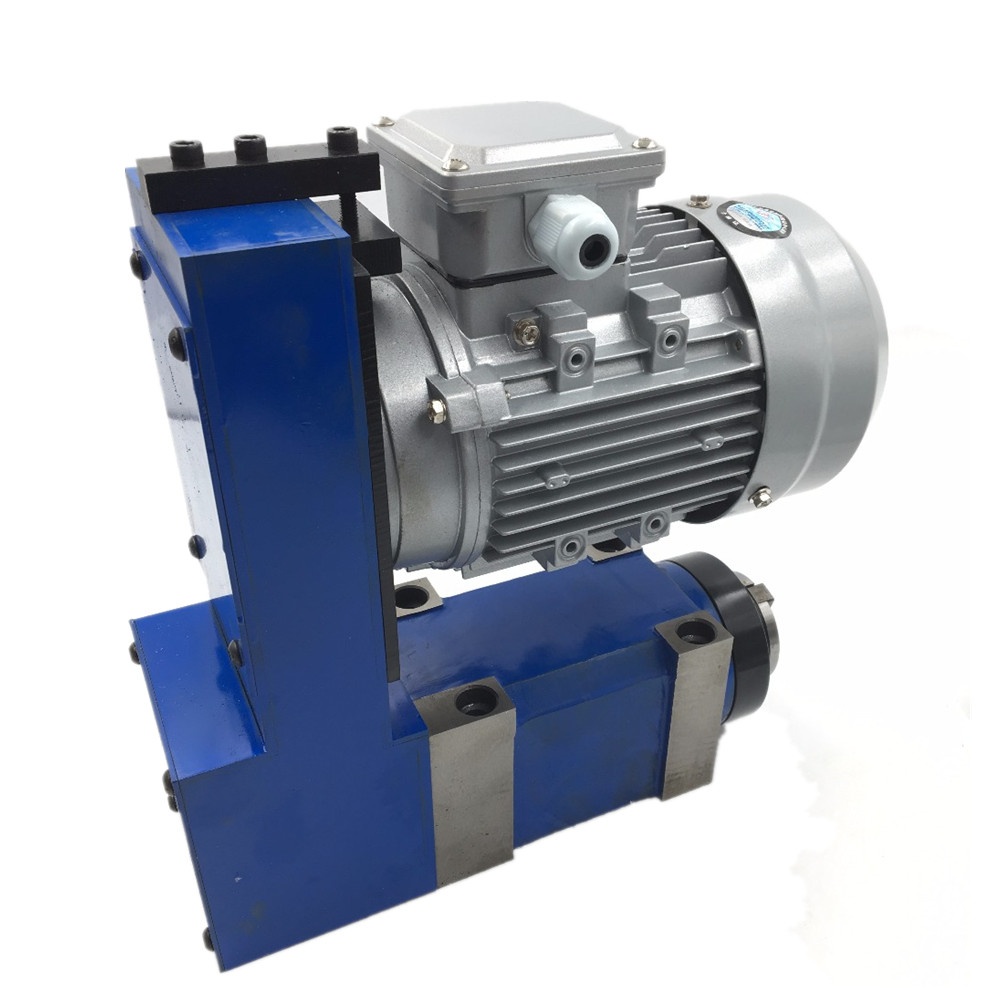 Spindle Unit MT3 BT30 ER25 Power Head 3000rpm 8000rpm with 370W Induction Motor V belt Drive