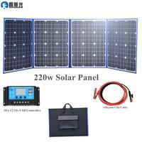 Гибкая Складная 220 Вт (55Wx4) солнечная панель монопортативное портативное зарядное устройство с USB зарядным устройством для телефона планшет