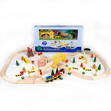 Fonde sotto pressione Veicoli Giocattolo Giocattoli Per Bambini Automobili di Modello di legno puzzle di Costruzione di slot binario transito Garage 1102