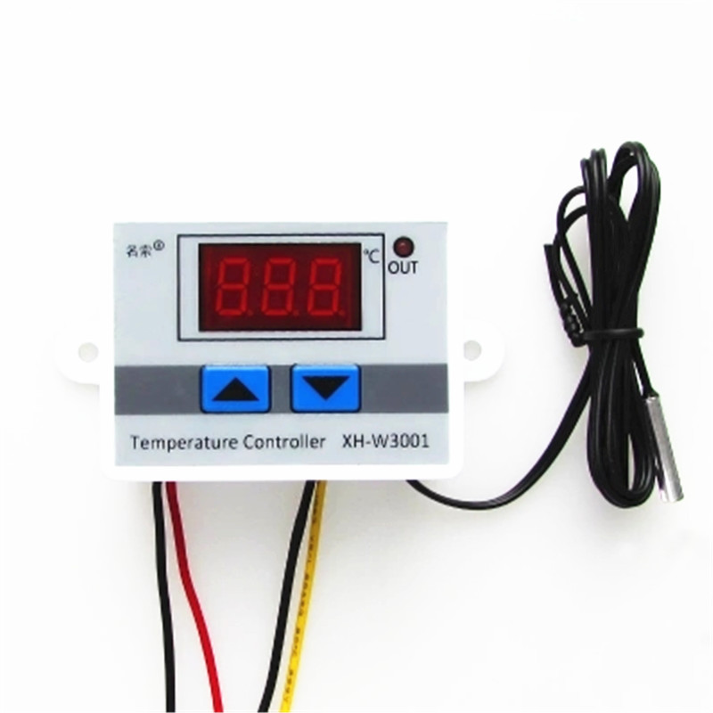 Temperature Controller Digital LED Temperature Controller Thermometer Thermo Controller Switch Probe XH-W3001 W3001 220V/12V/24v digital led thermometer temperature controller ac220v 10a thermostat incubator control microcomputer probe weather station m12
