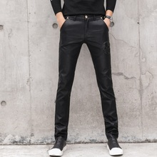Pants Skull Bottoms Punk-Style Fashion Tactical Trousers Slim-Fit Stretch Motorcycle