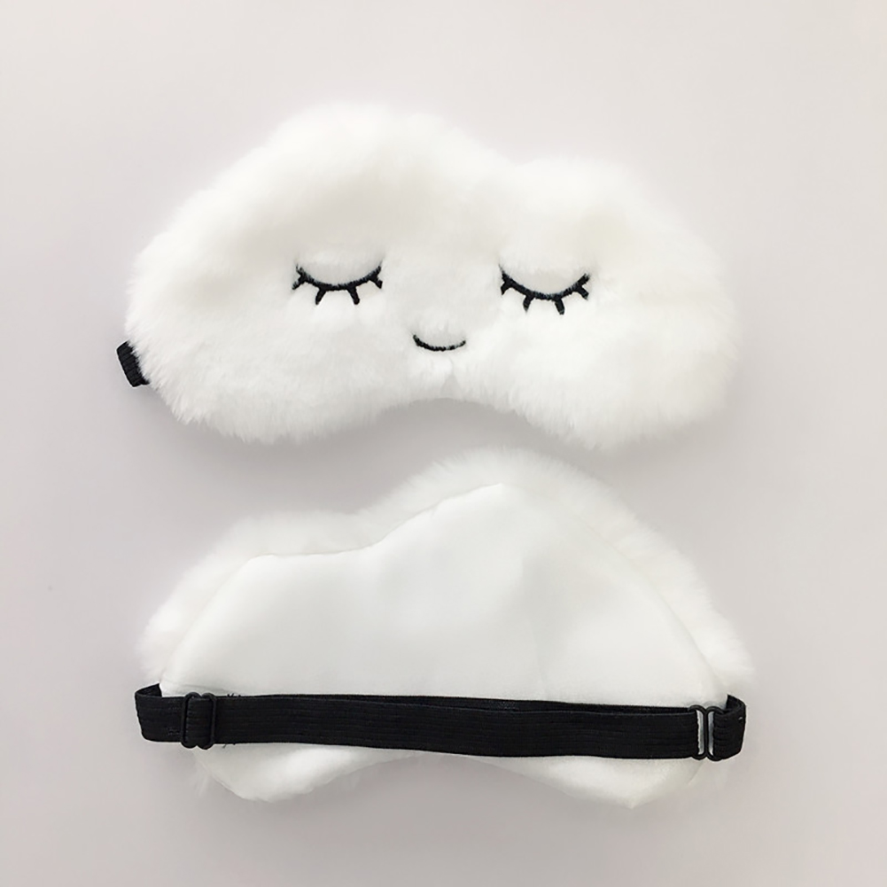 Break Travel Office Eyepatch Sleeping Aid Soft Plush Lightweight Cute Eyelashes Eye Mask Cartoon Cloud Blindfold Shade Relaxing