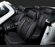 OUZHI para PEUGEOT 206 307 308 301 407 3008 negro de cuero de lujo asiento de coche cubierta delantera y trasera conjunto Completo fundas para asientos de coche