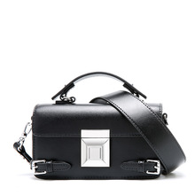 Fashion luxury handbags women bags designer leather new European and American fashion leather wild Covered women's shoulder bag new serpentine hit color wild leather handbags european and american fashion trapezoidal buckle shoulder diagonal bag leather ha