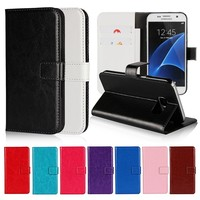 Stand Wallet Vintage Crazy Horse PU Leather Case For Samsung Galaxy Core Prime G360
