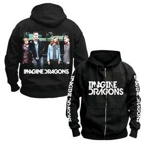 Image 4 - Bloodhoof Imagine Dragons ร็อคอินดี้ Alternative ROCK Punk band ชายผ้าฝ้ายสีดำ Hoodie ขนาดเอเชีย