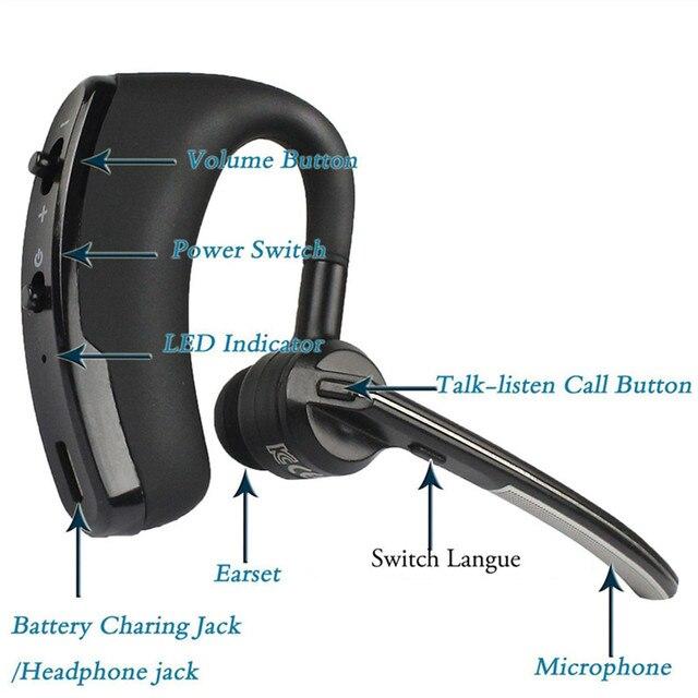 V8 Бизнес Bluetooth гарнитура V4.1 громкой связи Bluetooth гарнитура для С микрофоном Беспроводной гарнитура Bluetooth гарнитура для смартфонов Xiaomi samsung