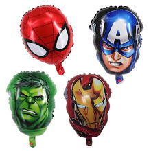 1pcs/lot 16 inch The Avengers foil balloons super hero helium globos Captain America superman ballon for boys birthday supplies