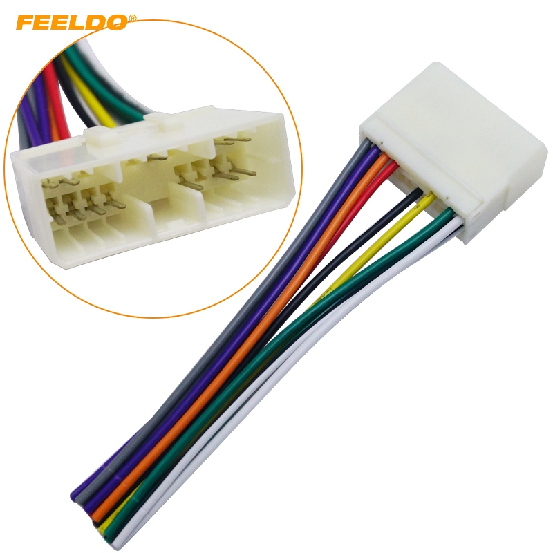 Feeldo Car Audio Radio Stereo Wiring Harness Adapter For