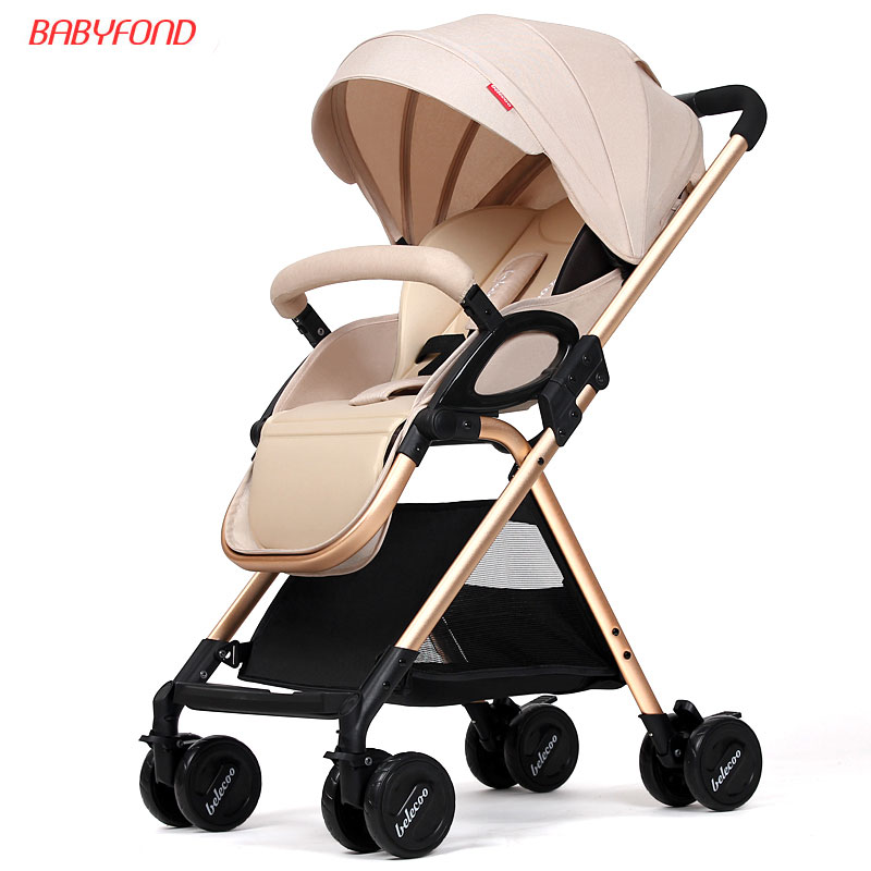Baby Stroller Light can be sitting can be lying back awning car high landscape folding BB cart