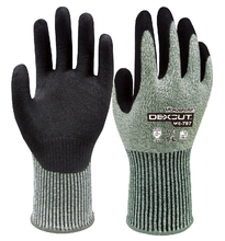 цена на Strengthen cut resistant safety glove work Nitrile Rubber Palm Sandy Dipped cut-resistant anit cut Work Glove