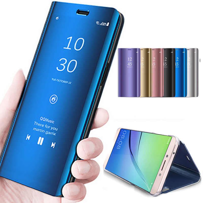 Detail Feedback Questions about Luxury Plating Mirror View PU Phone