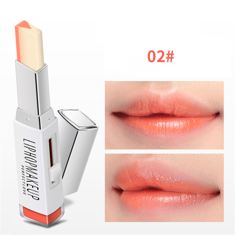 Portable Two Tone Tint Lip Bar Lipstick Moisturizing Bite Lips Makeup Lip Gloss