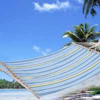 Jardin Doble hamaca cama de camping swing jardin aire libre 160 kg OP2298