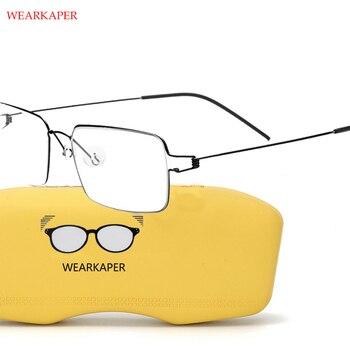 4b54712e6f Titanio gafas marco hombres prescripción gafas coreano Dinamarca mujeres  marca diseñador miopía marcos ópticos sin tornillos gafas