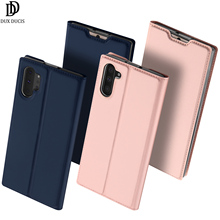 Flip Case For Samsung Galaxy Note 10+ 10 Plus PU Leather Protective Card Pocket Slot Holder Wallet Stand Cover Phone Case protective lychee pattern pu leather case w card slots holder for samsung galaxy note 3 black