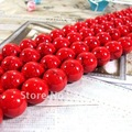 (Plz choose size) One Strand Red Natural Turquoise Loose Stone Jewelry Beads