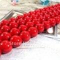 (Plz elegir tamaño) Uno Strand Red Turquesa Suelta Perlas de Joyería de Piedra Natural