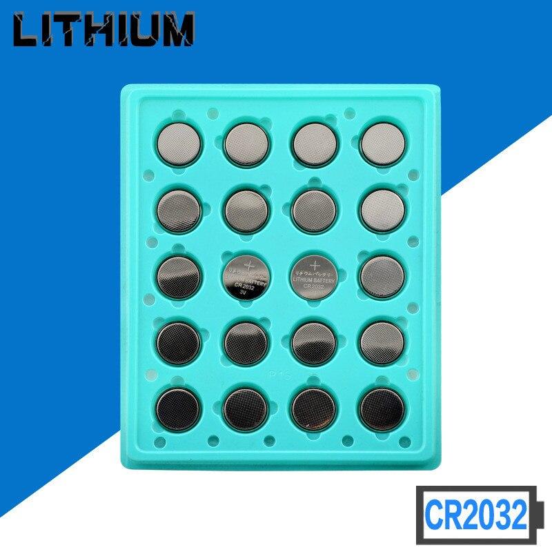 50 шт. 3 в 210 мАч CR2032 DL2032 CR 2032 KCR2032 5004LC ECR2032 Кнопка литиевая батарея монетного типа для часов для лазерной ручки пульт дистанционного управления