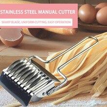 Прессовочная машина нож для резки лапши ручная секция Кухонные гаджеты из нержавеющей стали 1 шт. Shallot Cutter Spaetzle Makers