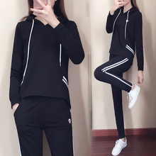 YICIYA Black tracksuits for women co-ord set 2 piece sets 2019 plus size 4xl 5xl hoodies top and pants suits outfit sportswear
