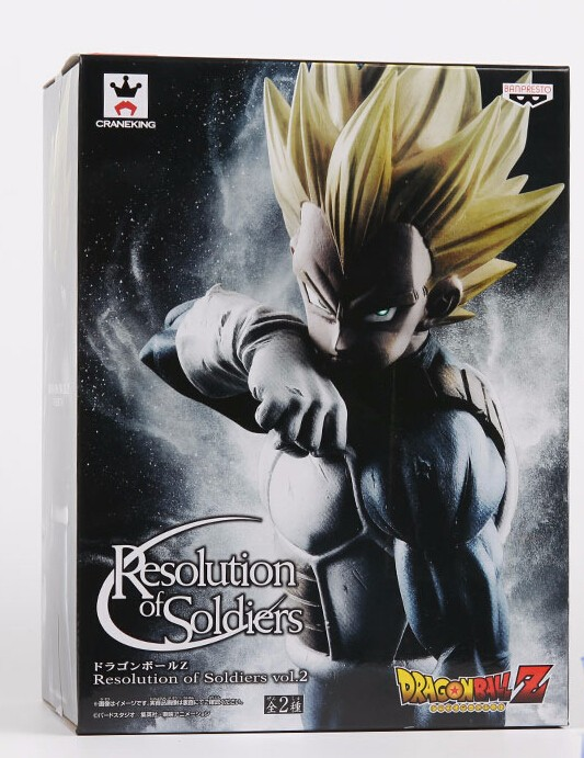 Anime Banpresto Dragon Ball Z Vegeta Action Figure Resolution of Soldiers Vol.2 Vegeta Model Toy Figuras DBZ Super Saiyan Vegeta original banpresto world collectable figure wcf the historical characters vol 3 full set of 6 pieces from dragon ball z