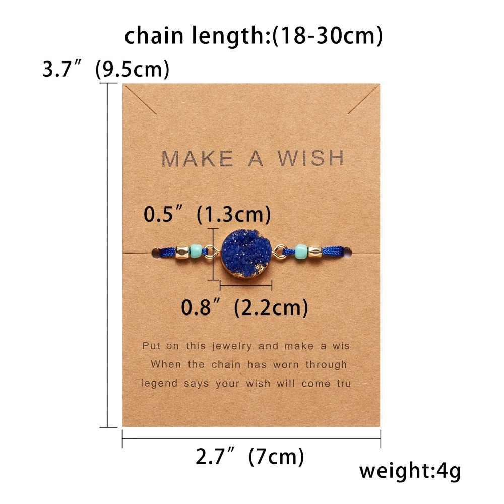 Rinhoo Natural Stone Resin Bracelet With Card Vintage Woven Women Fashion Bangles & Bracelets Charming Daily Jewelry Gifts