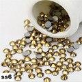 Aurum Strass cristal Unhas SS6, 1440 pçs/lote Plana Volta Non Hotfix Glitter Pedras Prego, Prego 3d DIY Telefones decorações Suprimentos