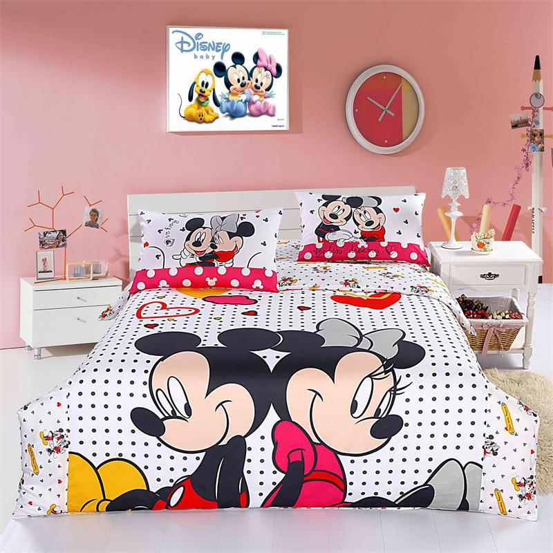 Copripiumino Matrimoniale Cartoni Animati.Cute Cartoon Topolino E Minnie Principessa Bambini Bedding Set