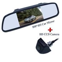 CCD HD Parcheggio Impermeabile Monitor di Sistema, Vision 170 Car Rear View Camera Con 4.3 pollice Car Monitor Specchio Retrovisore