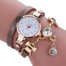 CLAUDIA lujo nuevo estilo de moda Faux cuero pulsera reloj mujeres vestido  relojes ronda Casual Ladies c8c0fb905cf2