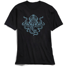 Illuminati Octopus T-shirt Cotton T Shirt for Men Short Sleeve Diver Tees Prevailing Summer Sailor O-Neck TShirt Drop Shipping