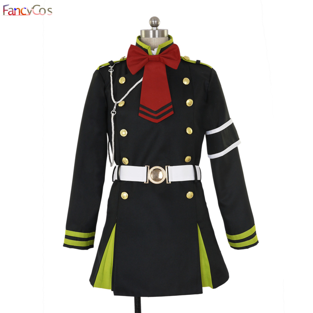Halloween Women's Seraph of the end Shinoa Hiiragi Dress Cosplay Costumes Adult Costume Movie High Quality Deluxe