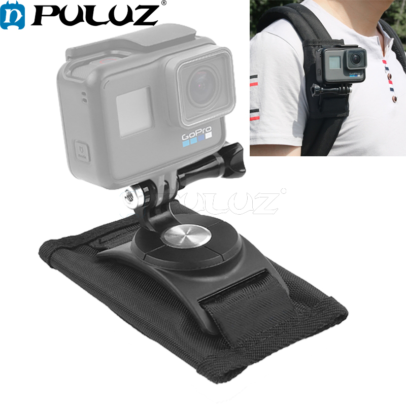 PULUZ 360 Rotating Quick Release Strap Mount Shoulder Backpack Mount for GoPro HERO6 5 5 Session 4 Session 4 3 3 2 1 Xiaoyi in Sports Camcorder Cases from Consumer Electronics