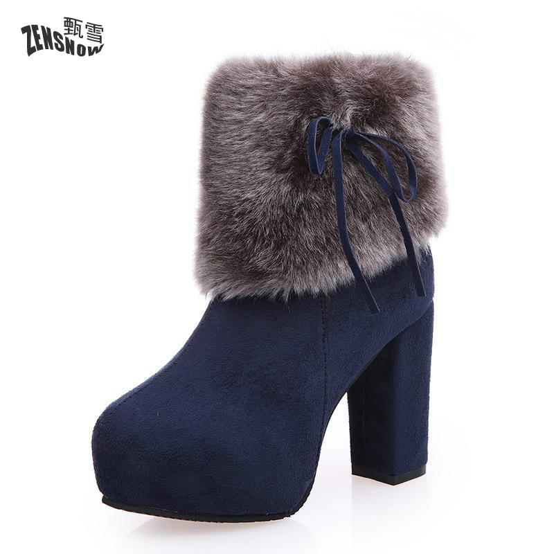 The new design style of the new fashion casual womens boots with soft and warm interior comfort
