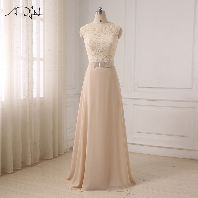 ADLN Chiffon Formal Evening Dresses Women 2017 New Arrival Fashion Long  Stylish Top Lace Covered Evening Prom Dress 074bd78375a4