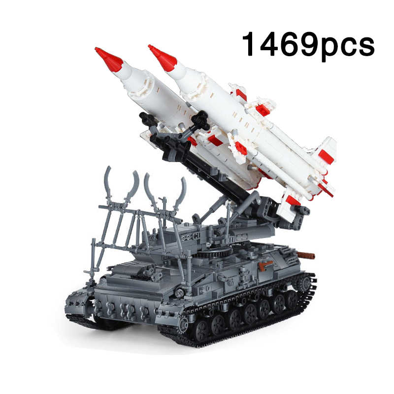 Military Series SA-4 Ganef 2k11 Krug Missile tank vehicle Building Blocks Bricks Kids Toys Gift Compatible legoingly Army Tanks