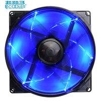 PcCooler 12cm Computer Case Cooling Fan LED 4pin Blue PWM Fan Quiet 120mm LED Light PC