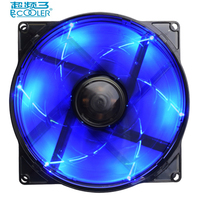 PcCooler 12cm Computer Case Cooling Fan LED 4pin Blue PWM Fan Quiet 120mm LED Light PC