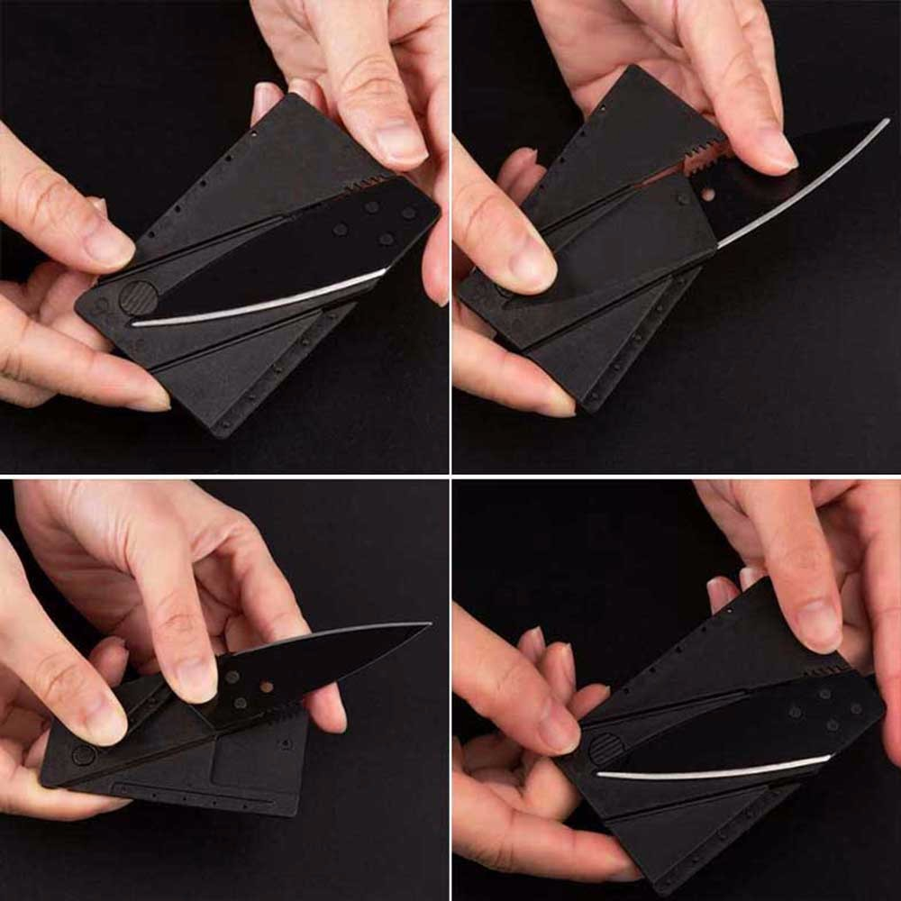 100 Pieces Of Stainless Steel Knife Credit Card Knife Folding Knife Camping Tools Tactical Survival Tool