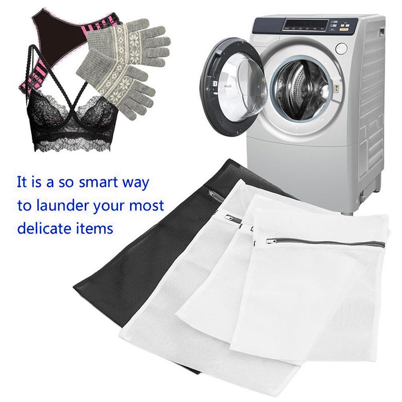 Newly 4pcs Set Clothes Laundry Mesh Net Bag Pouch For Washing Machine Bra Underwear