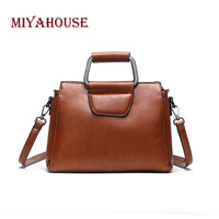 Miyahouse Chinese Style Shoulder Bag For Women Genuine Leather Classic Messenger Bag Solid Color Crossbody Bag For Female