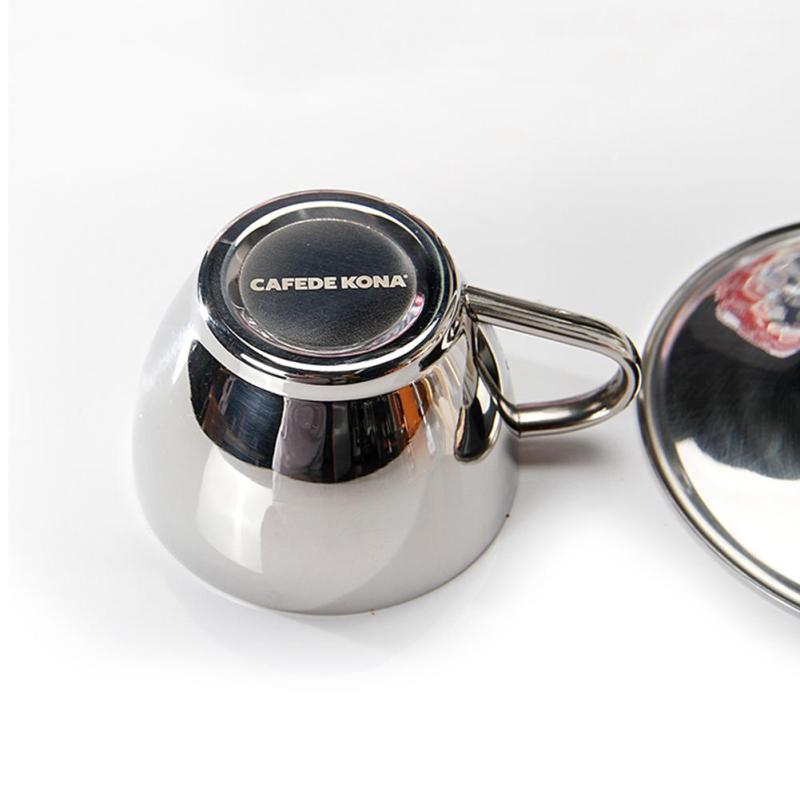 Online Shop 1pcs Creative stainless steel coffee mug Double Layer