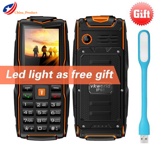 (Gift!) VKWorld New Stone V3 IP68 Waterproof 3 SIM Cards Slot Mobile Phone 2.4'' GSM FM Russian 3000mAh Cellphone PK Guophone A6